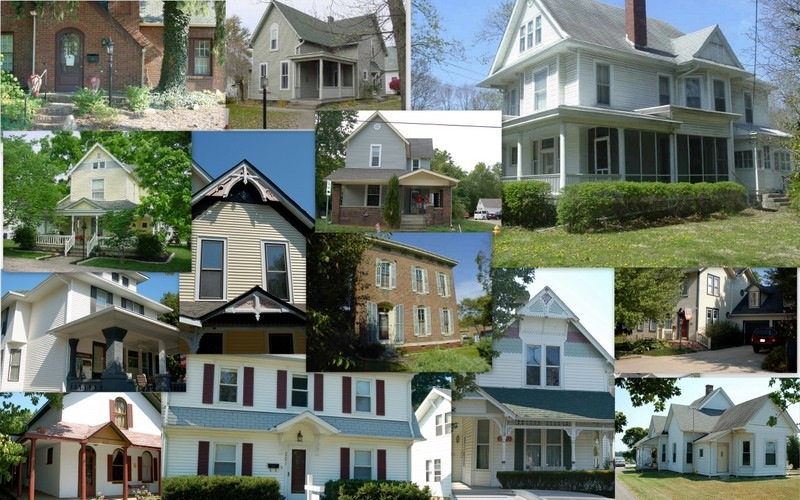 "These are the houses that didn't make the cut, though they were all pretty great in some way. The ""one that got away"" is the white one, in the top right corner."