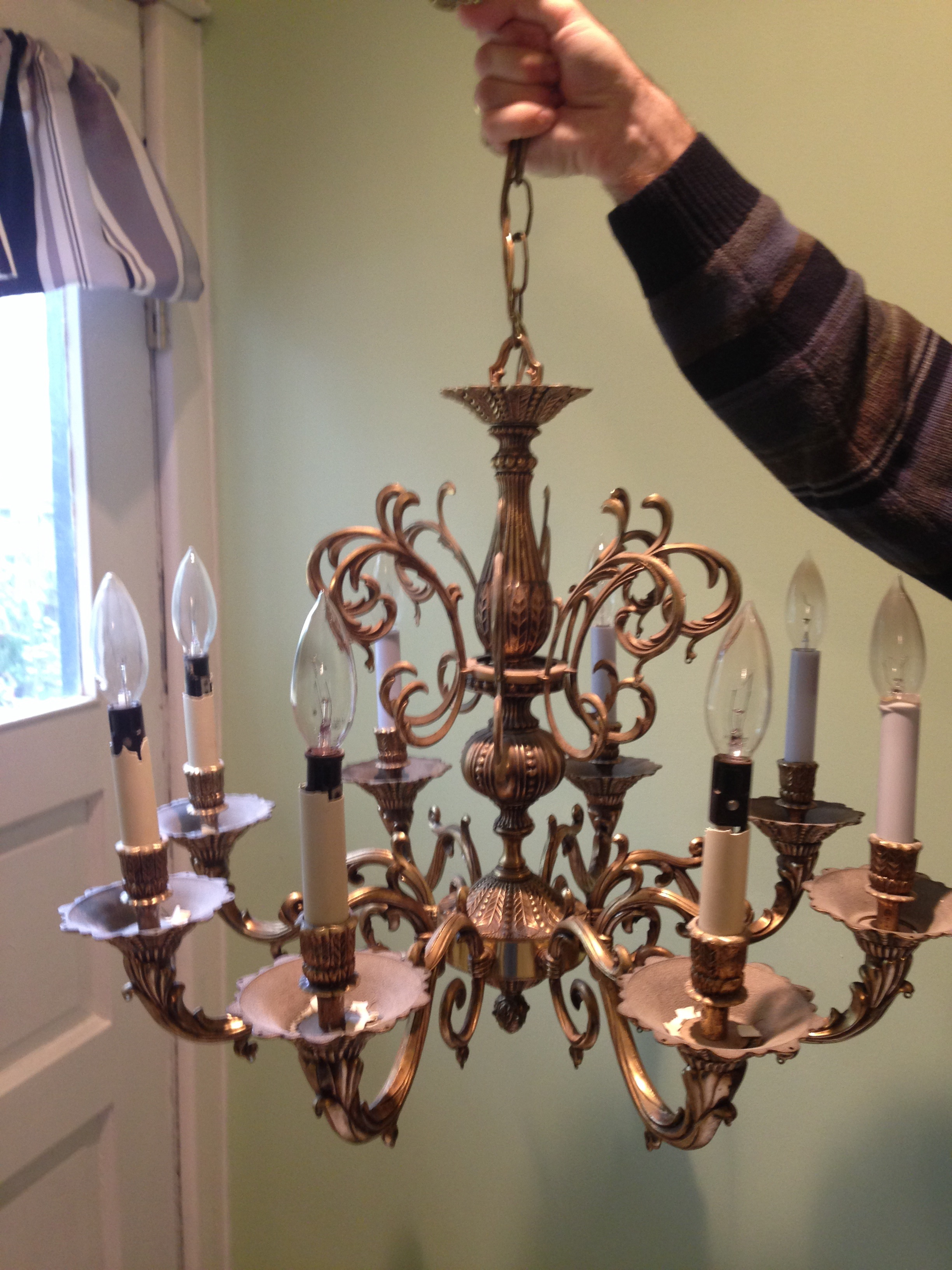 A New Dining Room Chandelier Vivacious Victorian