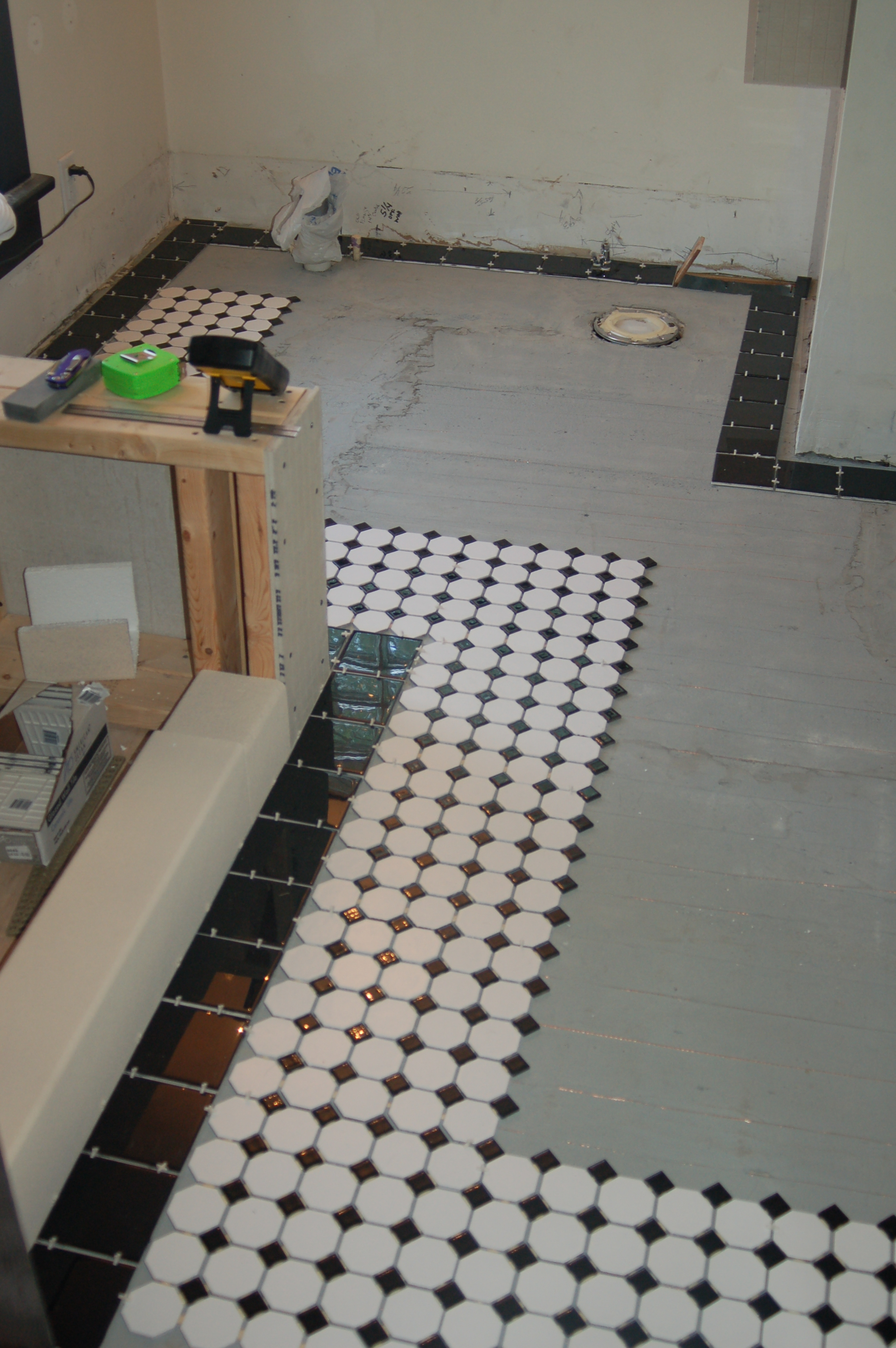 Flashback friday guest bath adventure part 2 framing and heated floor 07 dailygadgetfo Images